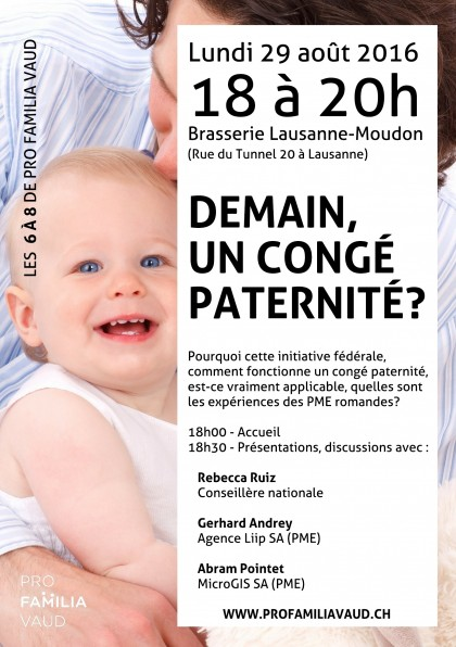 29 août : soirée sur le congé paternité !