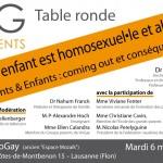 """Table ronde """"Mon enfant est homosexuel-le et alors ?"""" – mardi 6 mai"""