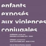 Enfants exposés aux violences conjugales : Conférence & Colloque