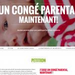 Un congé parental maintenant! (pétition)
