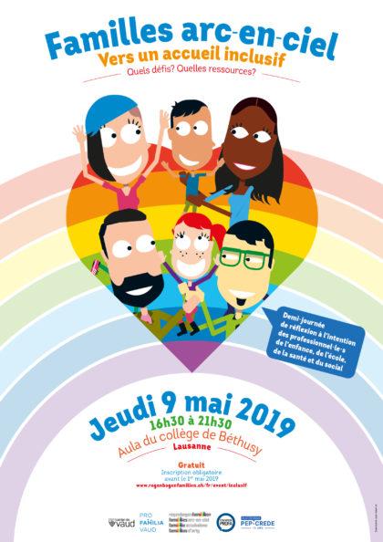 """9 mai 2019 : Demi-journée de réflexion """"Familles arc-en-ciel, vers un accueil inclusif. Quels défis ? Quelles ressources ?"""""""