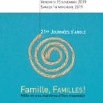Famille, FAMILLES! Mille-et-une manières de vivre ensemble – journées d'Arole 15 et 16.11.2019